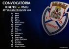 Convocatória | 36ª Jornada Segunda Liga