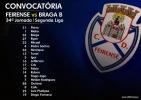 Convocatória | 34ª Jornada Segunda Liga