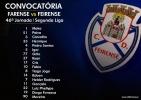 Convocatória | 46ª Jornada Segunda Liga