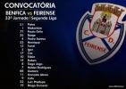 Convocatória | 33ª Jornada Segunda Liga