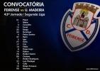 Convocatória | 43ª Jornada Segunda Liga