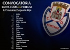Convocatória | 44ª Jornada Segunda Liga